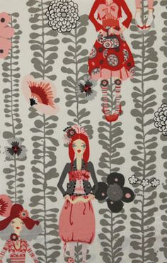 Alexander Henry Rivoli Girl Onyx fabric.  Gorgeous color combo.