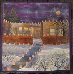Feliz Navidad by Betty Busby , Albuquerque, New Mexico, at the 2013 Houston International Quilt Festival.  Photo by Quilt Inspiration