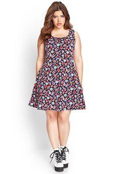 Floral Print Skater Dress | FOREVER21 #F21Plus