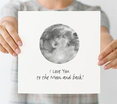 I Love this Preppy Postcard.  I love you to the Moon and back. It is a printable :-)