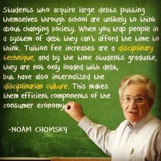 Do students who find themselves in debt after graduation have the same freedom to choose a job they enjoy? Thanks to https://www.facebook.com/OccupyPortland for the photo
