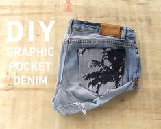 DIY Graphic Pocket Denim