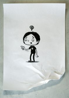 A tiny comic by Michael Hacker. Via http://blog.drawn.ca/