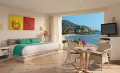 The Sunscape Dorado Pacifico in Ixtapa, Mexico, re-opened in November 2011 after a $10 million upgrade to all the rooms (including new furniture, flat-screen TVs, and fully renovated bathrooms). (From: Photos: Best Beachfront All-Inclusive Resorts that Fit Your Budget)