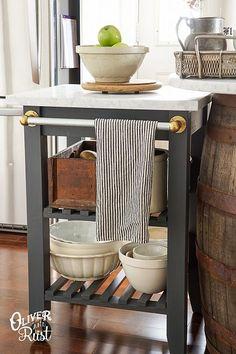 Hometalk :: Ikea Kitchen Cart Hack