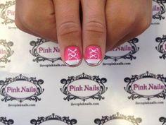 Pink Converse Nails