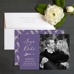 Rustic Lavender Save The Date Cards By Emily Crawford | Elli