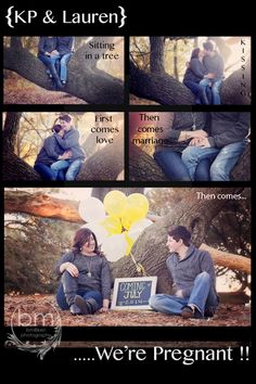 Pregnancy announcement for a wonderful lesbian couple! This turned out so beautiful.
