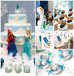 Frozen themed birthday party with Lots of Really Cute Ideas via Kara's Party Ideas KarasPartyIdeas.com #frozenparty #disney #winterparty #snowmanparty #partyideas #partydecor