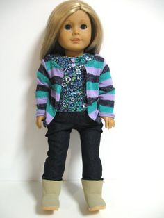 American Girl Doll Clothes School Time by 123MULBERRYSTREET, $26.00