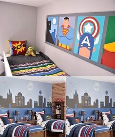 Super kid bedrooms, bedroom themes, boy bedrooms, new room, wall murals, boy rooms, room decorating ideas, little boys rooms, bedroom designs