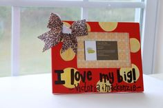 Personalized Sorority Big Sister/Little Sister Picture Frames