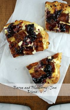 Bacon and Blueberry Jam Pizza