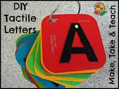 DIY tactile letters! Super easy to make.
