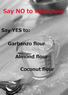 Healthy and tasty alternatives to wheat flour