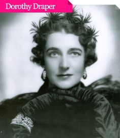 """""""America's Most Fabulous Decorator"""", Dorothy Draper(1889-1969) was a highly influential American interior decorator who was active from the early to the middle of the 20th century. Her style was marked by contrast and a boldness that was truly refreshing. What really became the influential factor for an entire generation of designers was her use of floral glam and color stripes. Possibly the best way to describe her style is through the words of her own saying, """"If it looks right, it's right."""""""