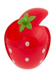 Mini Strawberry Trash Can, #ModCloth