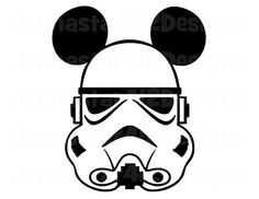 Stormtrooper Mickey With Black Ears DIY Printable Iron On Transfer Digital File