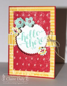 Stampin' Up! Flashback DSP and Hello There Stamp Set by Claire Daly Independent Demonstrator Melbourne Australia