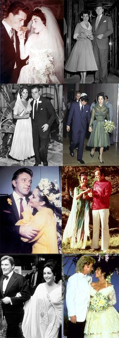 The many marriages of Elizabeth Taylor!