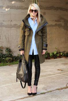 Long field jacket.