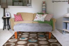 Tufted Upholstered Ottoman Tutorial