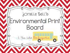 environmental print pins classroom idea, literaci, pin, word work, educ, kindergarten, write workshop, teach, school idea