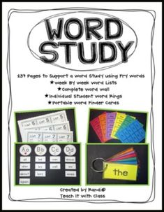Word Study Unit {A Guide for All Year}