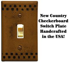 Our Checkerboard Switch Plate Cover is a quick way to transform a room!