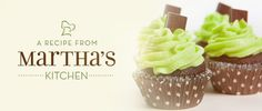 Celebrate St. Patty's day with Martha's Chocolate Mint Cupcakes with White Chocolate Frosting