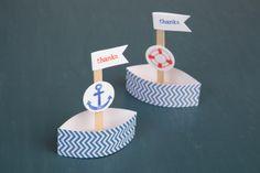 boat favors, maker crate, paper boat
