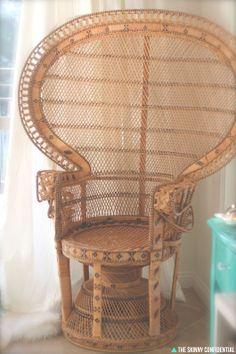 ::love this peacock chair::