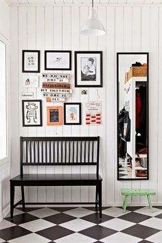 Black & White Tile Done Right   Apartment Therapy