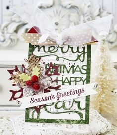 Season's Greetings Card by Melissa Phillips for Papertrey Ink (September 2014)