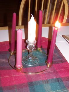 Advent wreath.To start a tradition at home.. includes Bible reading ...