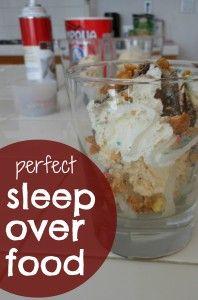 Sleep over food!