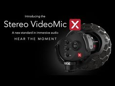 RØDE Stereo VideoMic X - small, on-camera microphone for finest audio! http://www.motionvfx.com/B3674  #microphone #dslr #camera #filmmaking #audio