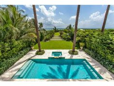 A great aerial view of the pool and hot tub. Miami Beach, FL Coldwell Banker Residential Real Estate
