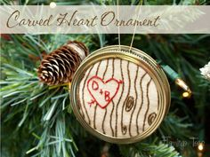 Carved Heart Ornament. Too cute.