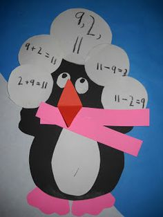 Penguin Fact Families-free template and bulletin board idea!