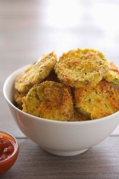 Almond Crusted Baked Zucchini Crisps.