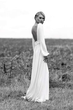 Perfect fall wedding dress...simple & elegant.