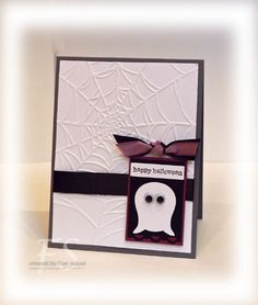 "Stampin"" Up! owl punch used for ghost!"