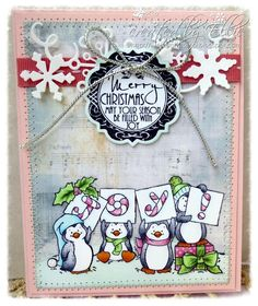 Designer paper by Michele Roos Designs for Whimsy Stamps (winter frost)