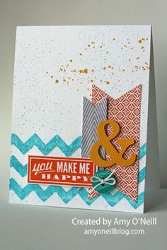 Same Technique, Same Sketch, Two Different Cards -- Monday Montage #5...Amy O'Neill  Stampin' Up!