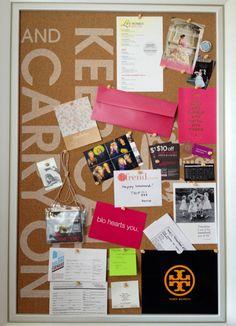 the doctor's closet: Keep Calm corkboard #inspirationboard  #dorm #diy #college #craft