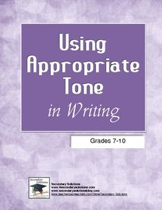 One of the most difficult literary devices to recognize as well as convey is tone.  Helping students to identify tone in literature can be daunting...