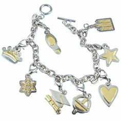 "LDS YW Young Women Gold & Silver Two Tone Finish Steel 8"" Young Women Values Charm Bracelet - Faith (Footprint), Divine Nature (Crown), Individual Worth (Snowflake), Knowledge (Graduation Cap), Choice & Accountability (Liahona), Good Works (Heart), Integrity (Star) & Virtue (Temple) - Young Women Gifts, Girls Camp Ringmasters, http://www.amazon.com/dp/B004L64BM2/ref=cm_sw_r_pi_dp_LQn3qb0RFGKXR"