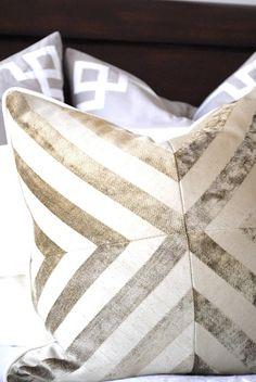 metallic stripe pillow