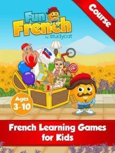 Fun French Course by Studycat: Learn French - Language learning games for kids ages 3-10 - basic French course for kids. Appysmarts score: 90/100